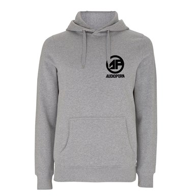 Audioporn Black logo Grey Hoodie artwork