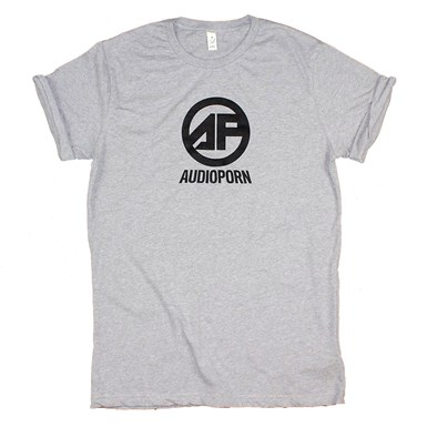 Audioporn Roll Sleeve Logo Tee [Grey] artwork