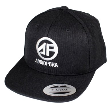 Audioporn Logo Black Snapback artwork