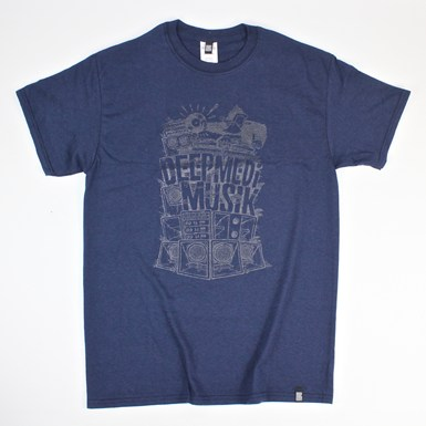 Deep Medi Stack Logo Gel Print [Navy Blue] artwork