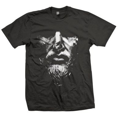 Volume 1 Tee - Statue (White on Charcoal Grey) artwork