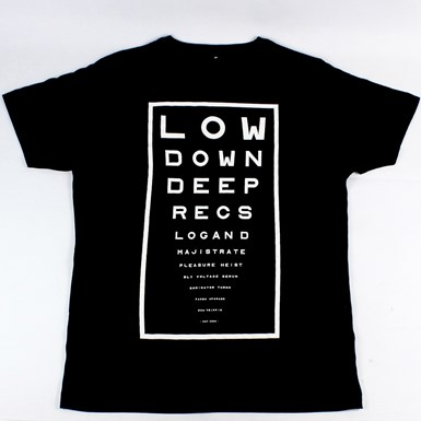 Low Down Deep - Eye Test T-Shirt [BLACK] artwork