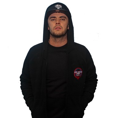 Official Low Down Deep Embroidered Zip Hood [Black] artwork