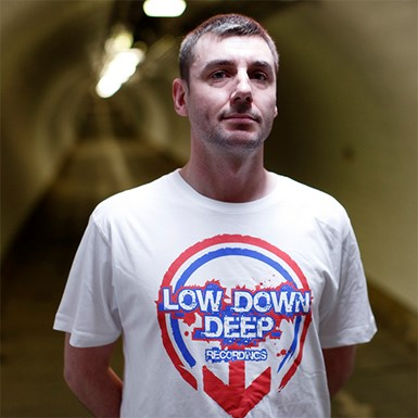 Official Low Down Deep Tee - Large Logo [White] artwork