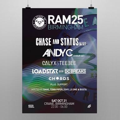 RAM25 Birmingham Poster [A2] artwork