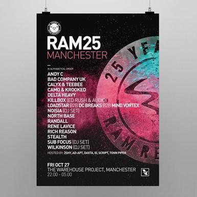 RAM25 Manchester Poster [A2] artwork