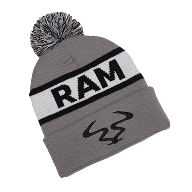 Ram Bobble Hat Beanie [Grey / White] artwork