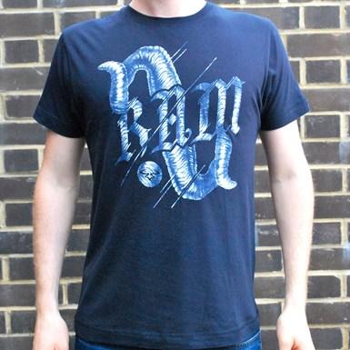 Ram Horns T-Shirt [Navy Blue] artwork