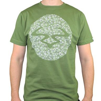 Ram Mosiac T-Shirt [Green on Forest Green Tee] artwork