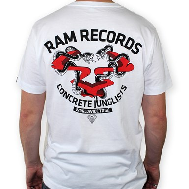 RAM x CONCRETE JUNGLIST - Snakes T-Shirt [White] artwork