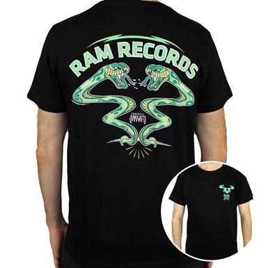 RAM x Concrete Junglist Snakes T-Shirt [Black] artwork