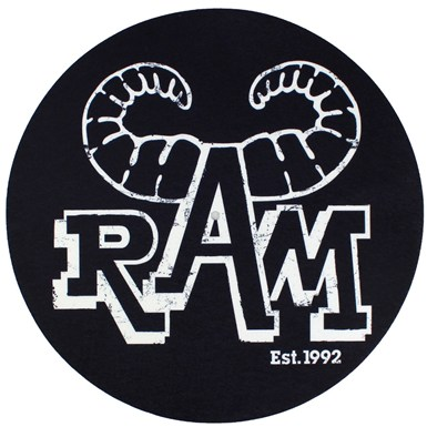 Ram Records Est 1992 Slipmats - Pair [White Logo On Black] artwork