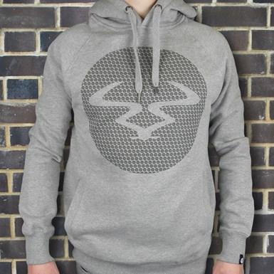 Ram Circles Unisex Hooded Top [Grey on Grey] artwork