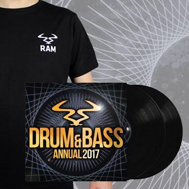 RAM Annual 2017 Vinyl Bundle 5 - 4x12 Vinyl, Digital & Badge T-Shirt artwork