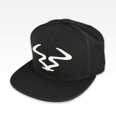 RAM Snapback [White on Black] artwork