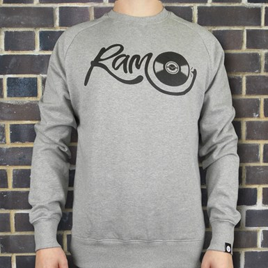 Vinyl Sweatshirt - Ram x Droneboy [Grey] artwork