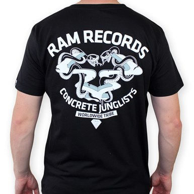 RAM x CONCRETE JUNGLIST - Snakes T-Shirt  [Black] artwork