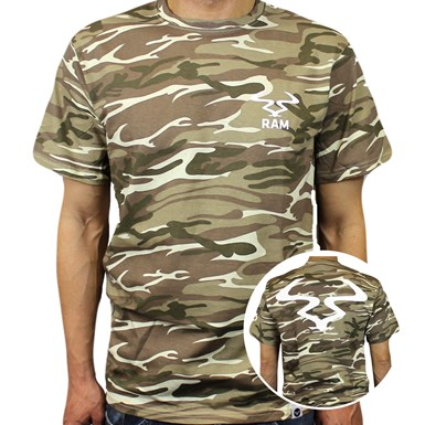 Ram Camo T-Shirt [Green / White] artwork