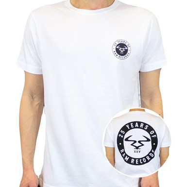 25 Years of RAM Badge T-Shirt [White] artwork