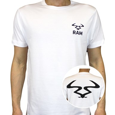 Ram Badge Logo T-Shirt [White] artwork