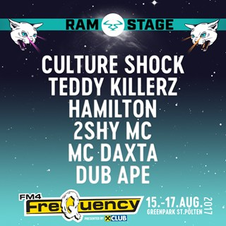 RAM Records x FM4 Frequency Festival 2017 flyer