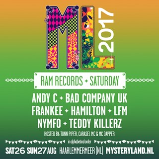 RAM Records x Mysteryland 2017 flyer