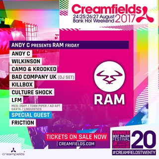 RAM Records x Creamfields 2017 flyer