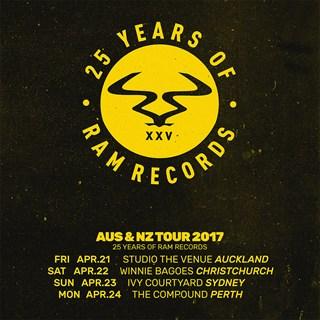 25 Years of RAM Records - Australia & New Zealand 2017 flyer