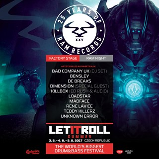 RAM Records x Let It Roll 2017 flyer
