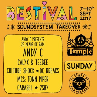 RAM Records x Bestival 2017 flyer