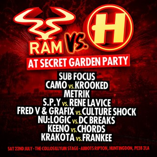 RAM vs Hospital at The Secret Garden Party 2017 flyer