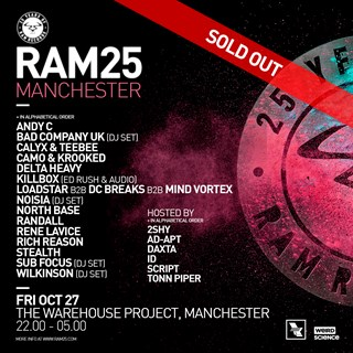 25 Years of RAM :: Manchester flyer