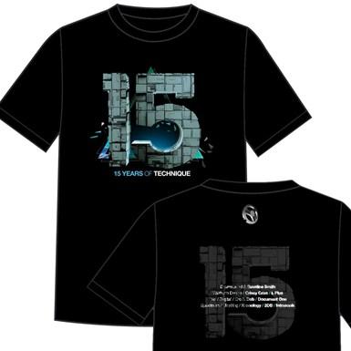 Technique 15 - Front & Back T-Shirt [Black] artwork