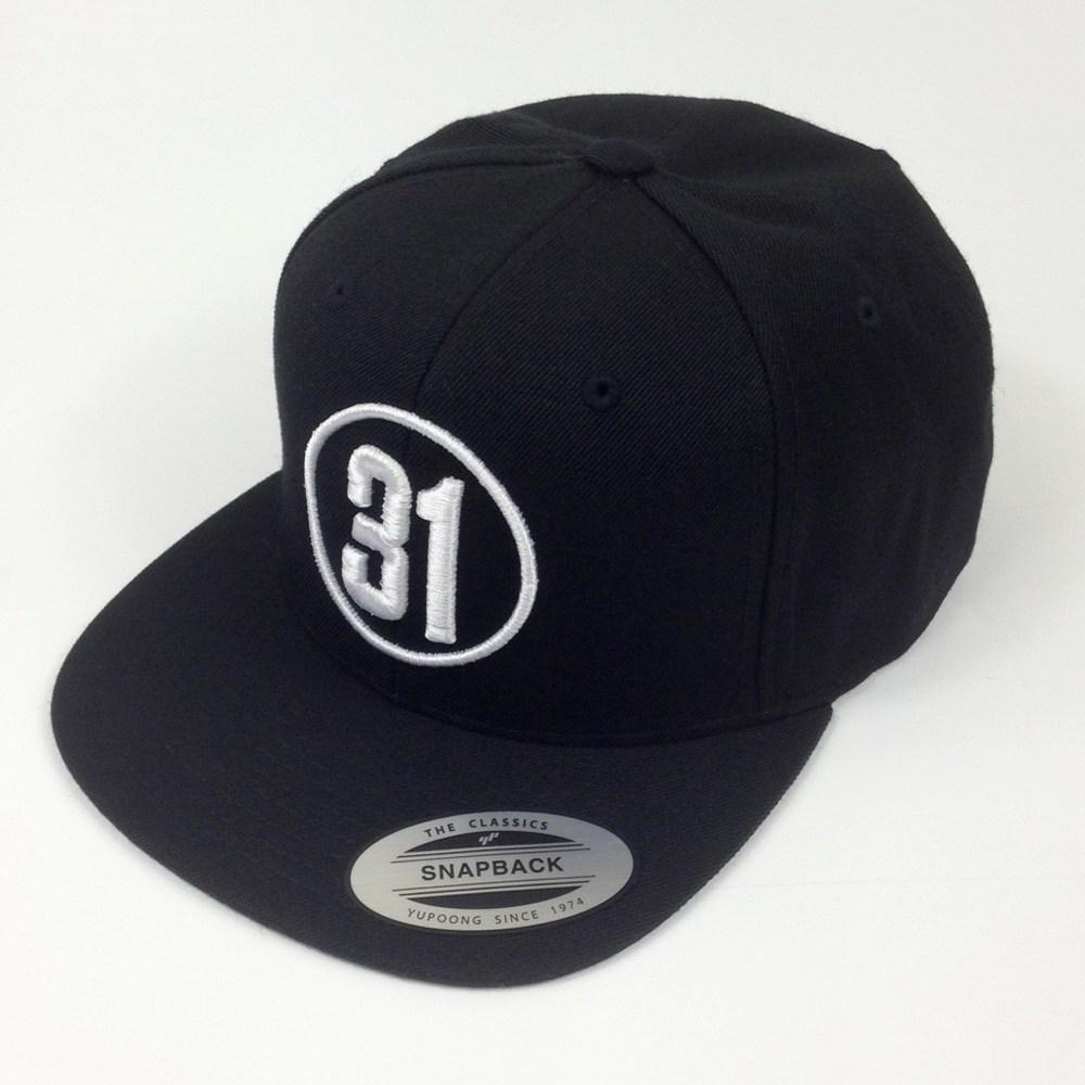 97b3fc313a1 31 Logo Snapback Cap  Black