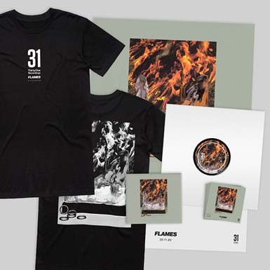 Need For Mirrors 'Flames' Bundle - Vinyl, CD, Tee, Poster, Download + Stickers artwork